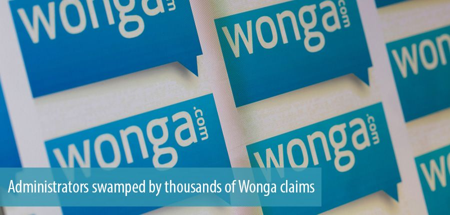 Administrators swamped by thousands of Wonga claims