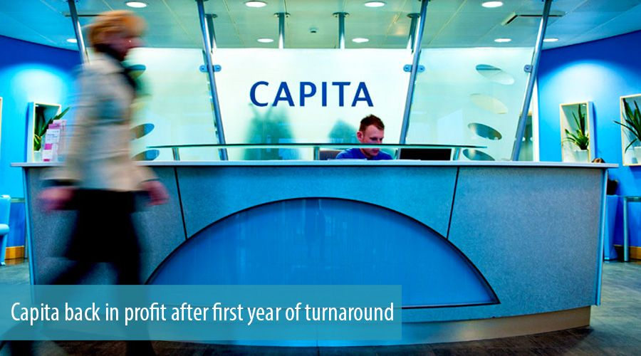 Capita back in profit after first year of turnaround