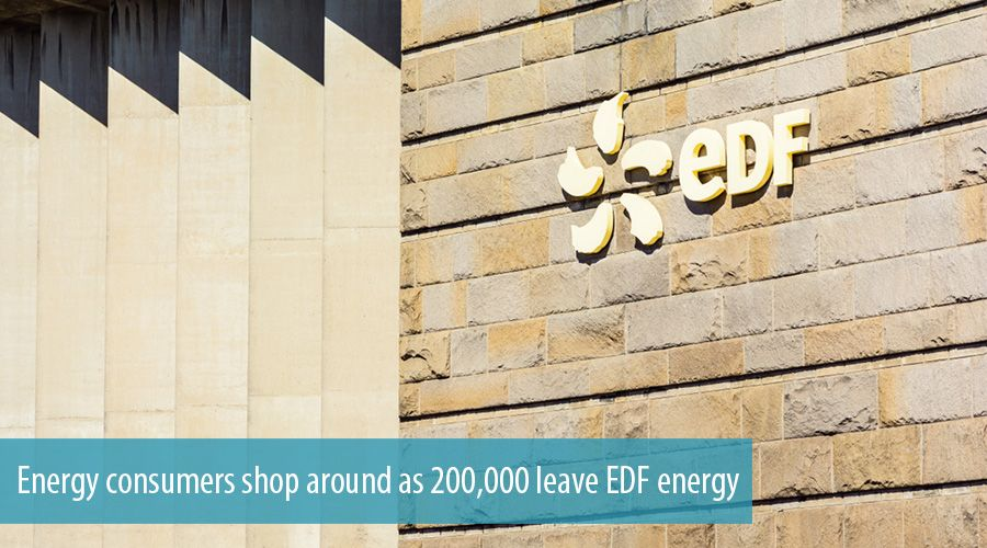 Energy consumers shop around as 200,000 leave EDF energy