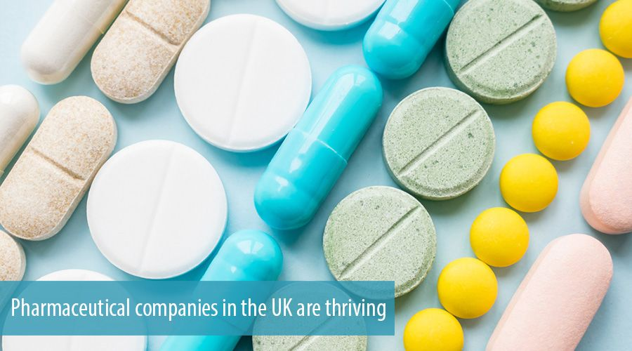 Pharmaceutical companies in the UK are thriving