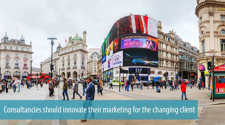 Consultancies should innovate their marketing for the changing client
