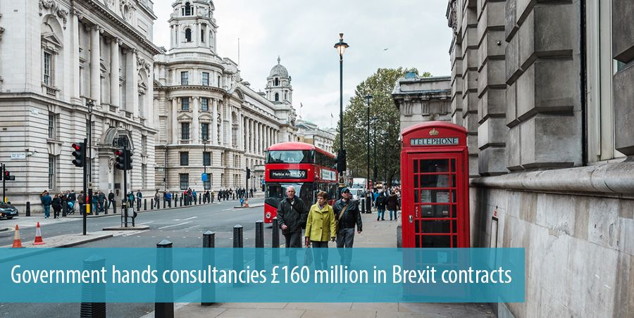 Government hands consultancies 160 million in Brexit contracts