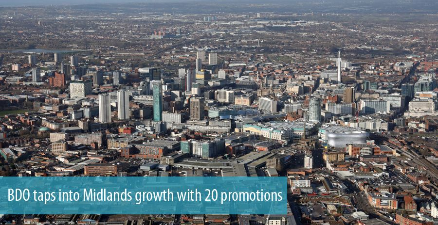 BDO taps into Midlands growth with 20 promotions