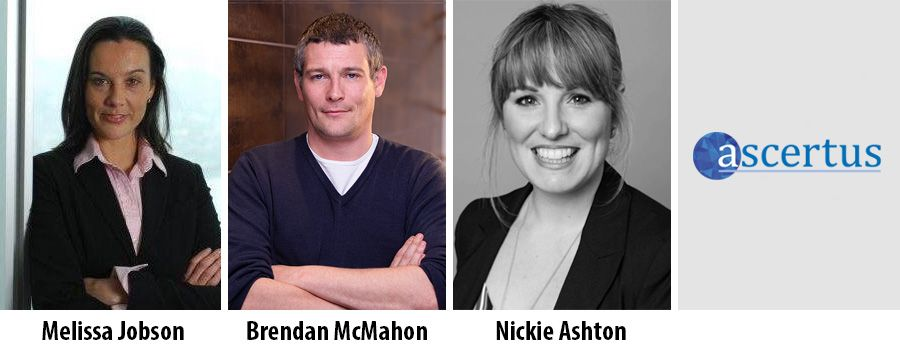 Melissa Jobson, Brendan McMahon and Nickie Ashton