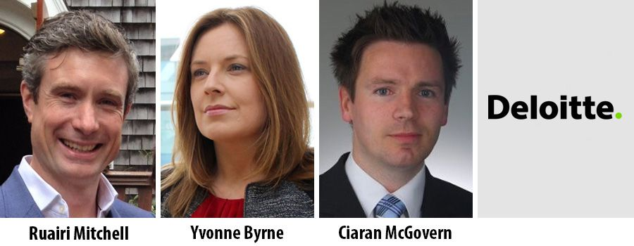 Ruairi Mitchell, Yvonne Byrne and Cairan McGovern - Deloitte