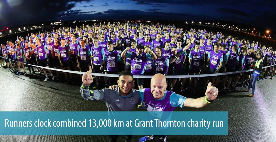 Runners clock combined 13,000 km at Grant Thornton charity run