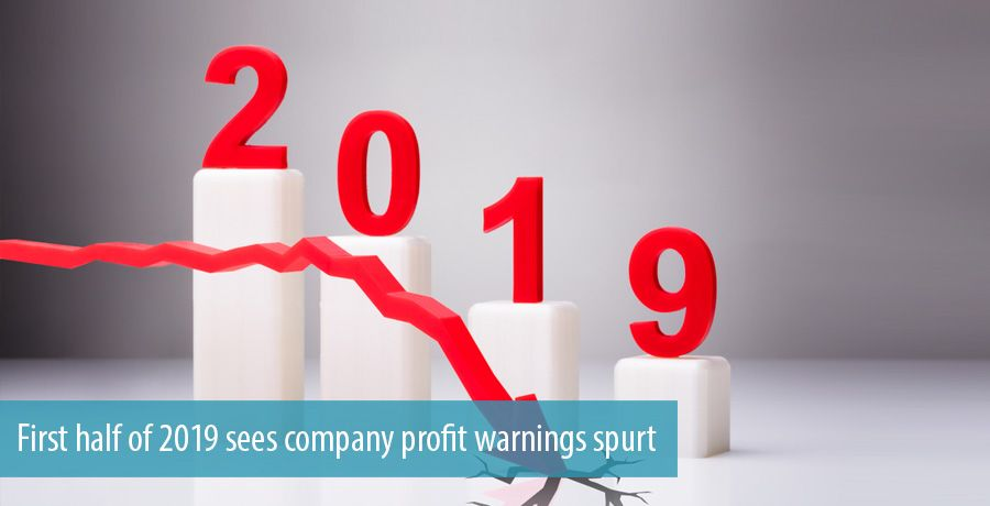 First half of 2019 sees company profit warnings spurt