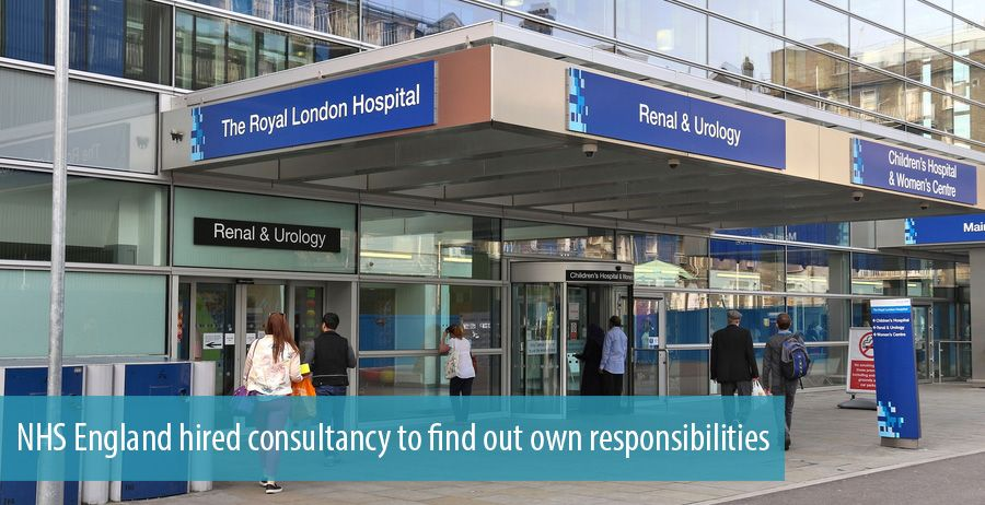 NHS England hired consultancy to find out own responsibilities