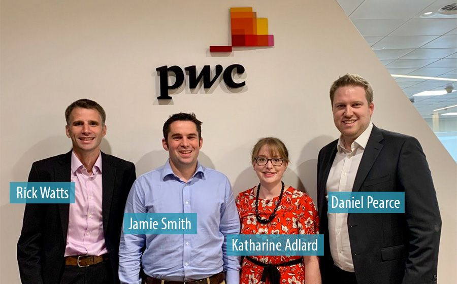 Rick Watts, Jamie Smith, Katharine Adlard and Daniel Pearce - PwC