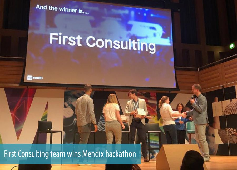 First Consulting team wins Mendix hackathon