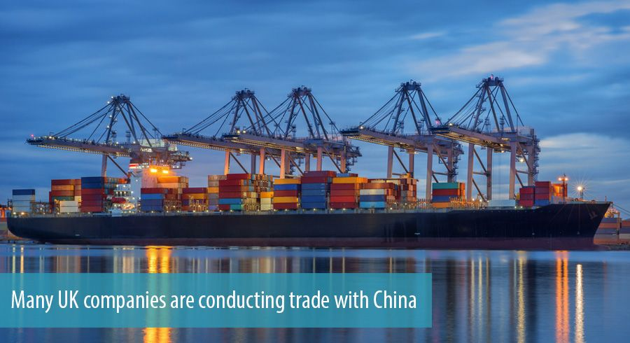 Many UK companies are conducting trade with China