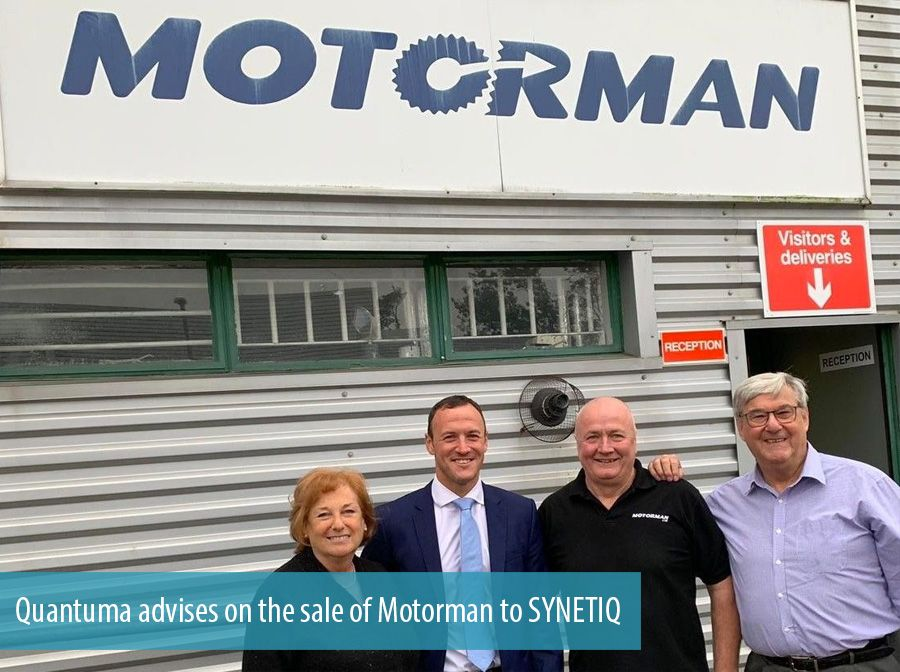 Quantuma advises on the sale of Motorman to SYNETIQ
