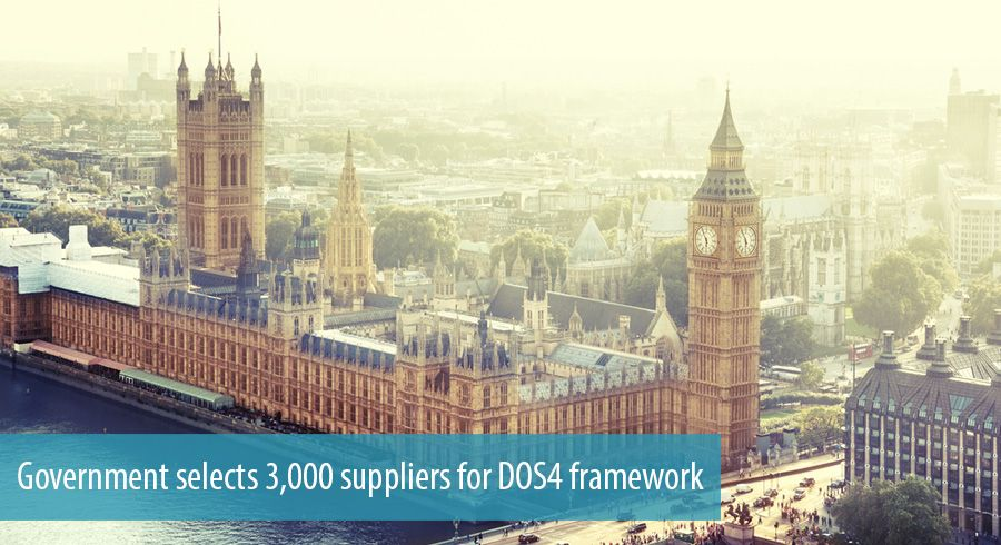 Government selects 3,000 suppliers for DOS4 framework