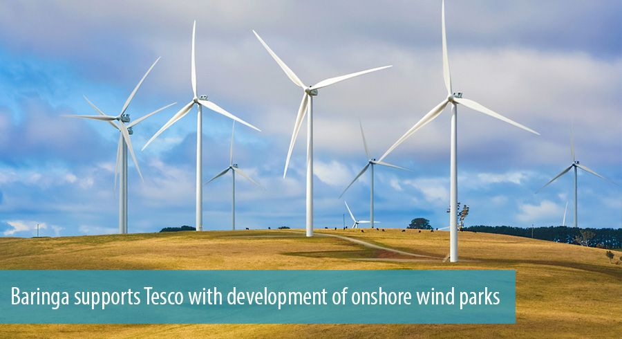 Baringa supports Tesco with development of onshore wind parks