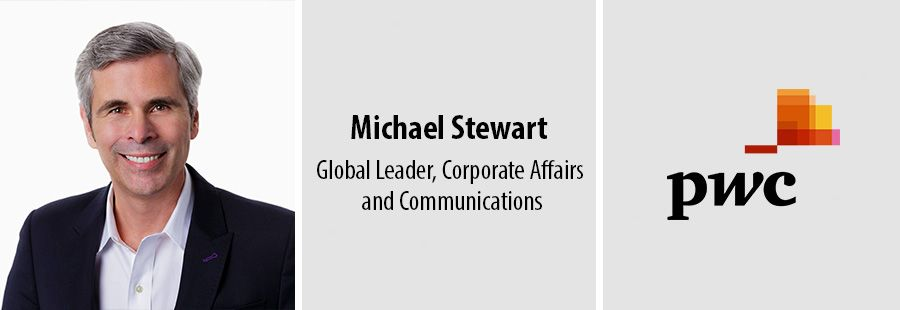 Communications executive Michael Stewart joins PwC in global role