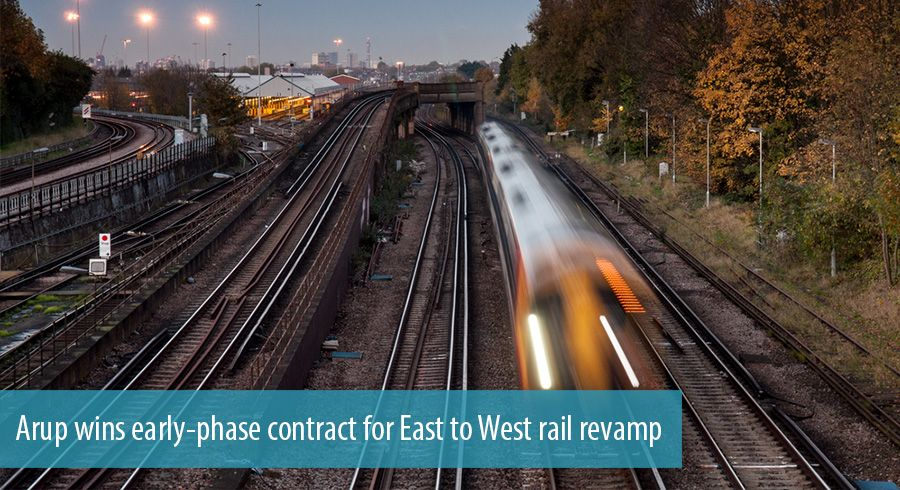 Arup wins early-phase contract for East to West rail revamp