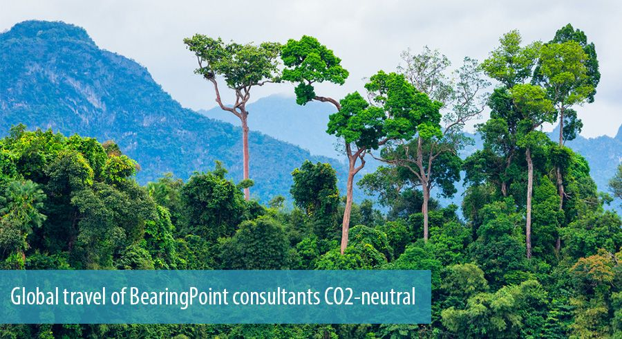Global travel of BearingPoint consultants CO2-neutral