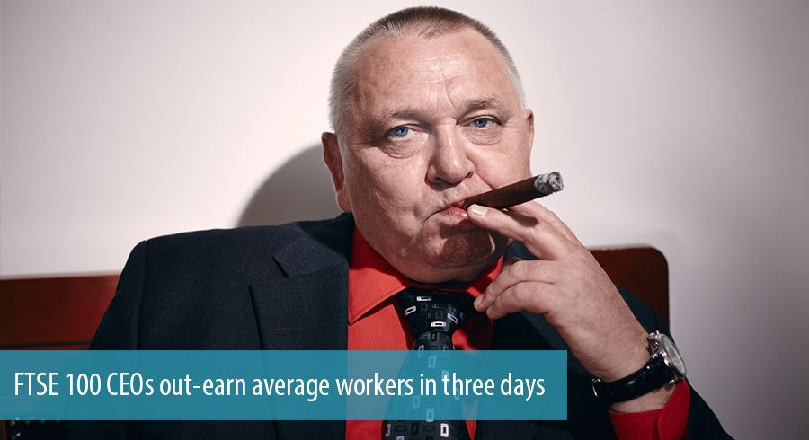 FTSE 100 CEOs out-earn average workers in three days