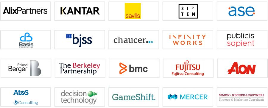 The top consulting firms in the UK (40 - 60)