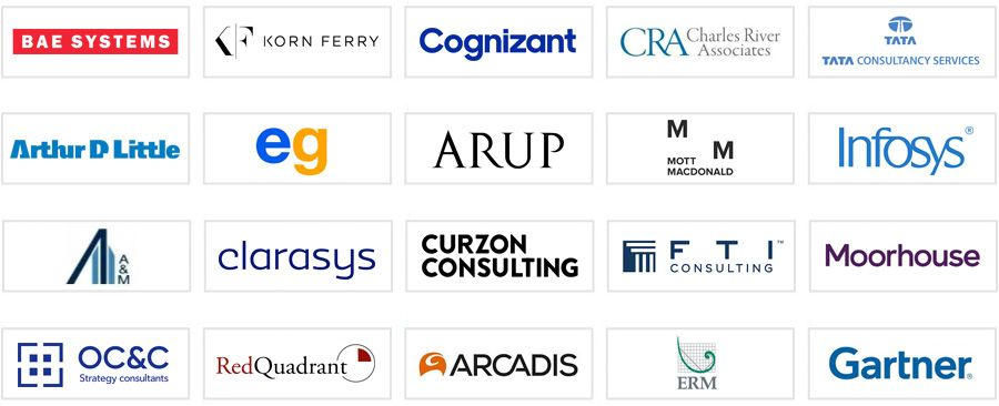 The top consulting firms in the UK (20 - 40)