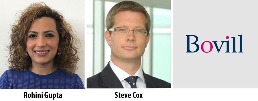 Rohini Gupta and Steve Cox join Bovill in London