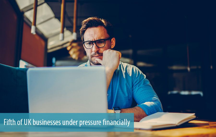 Fifth of UK businesses under pressure financially