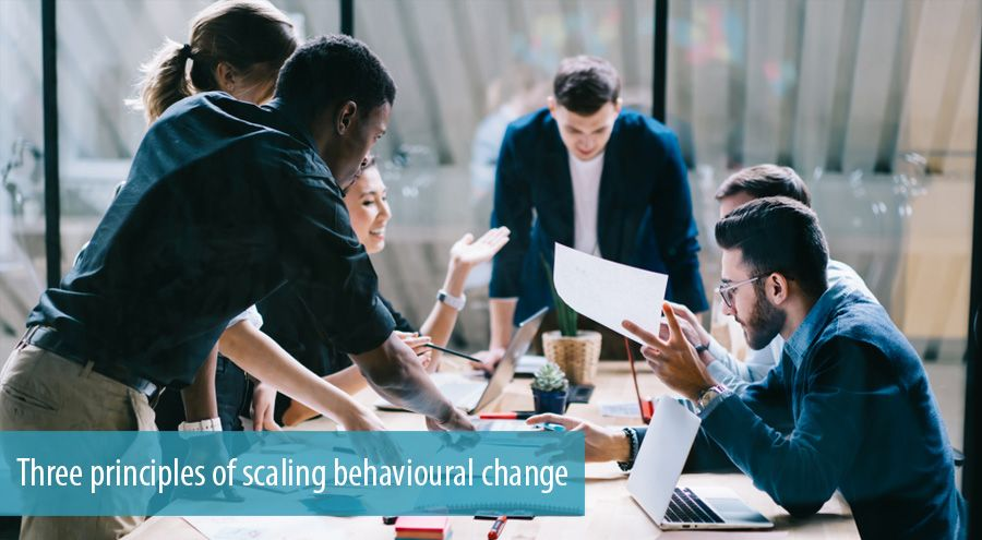 Three principles of scaling behavioural change