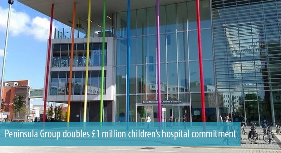 Peninsula Group doubles £1 million children's hospital commitment