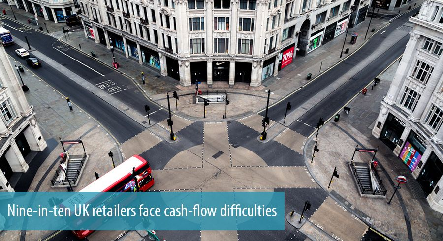 Nine-in-ten UK retailers face cash-flow difficulties