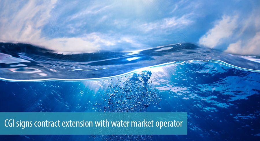 CGI signs contract extension with water market operator