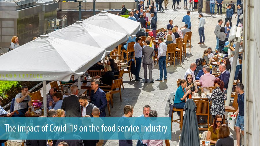 The impact of Covid-19 on the food service industry