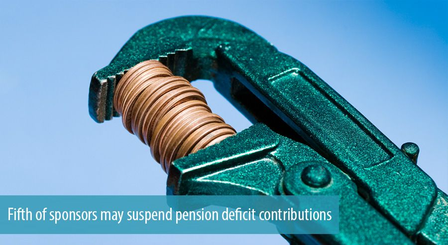 Fifth of sponsors may suspend pension deficit contributions