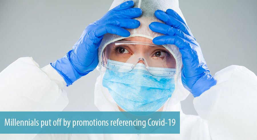 Millennials put off by promotions referencing Covid-19