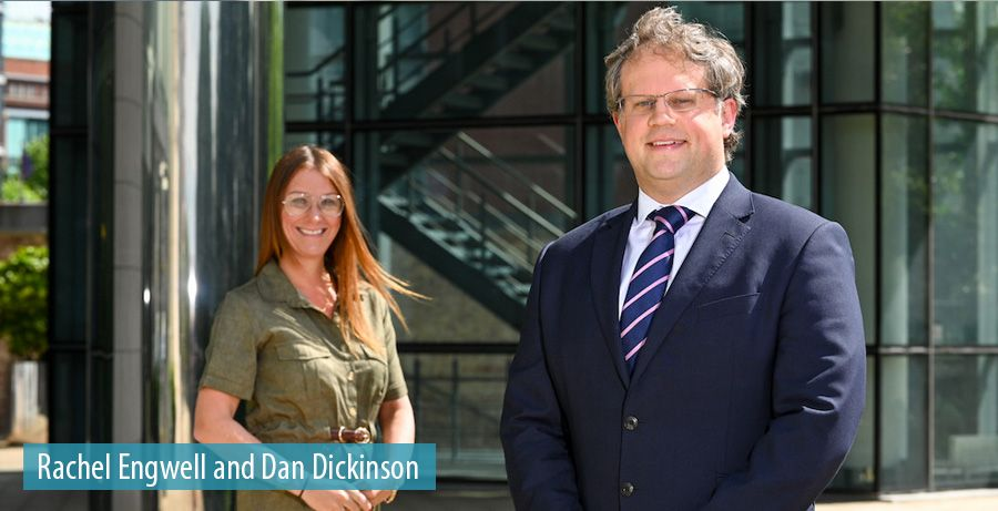 Rachel Engwell and Dan Dickinson