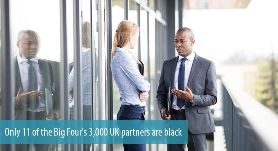 Only 11 of the Big Four's 3,000 UK partners are black