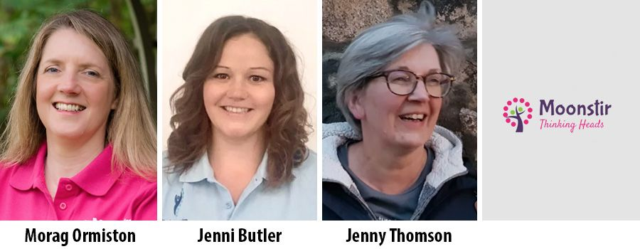 Morag Ormiston, Jenni Butler and Jenny Thomsson, Moonstir