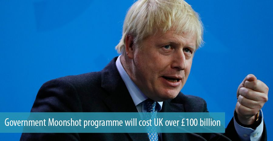 Government Moonshot programme will cost UK over £100 billion