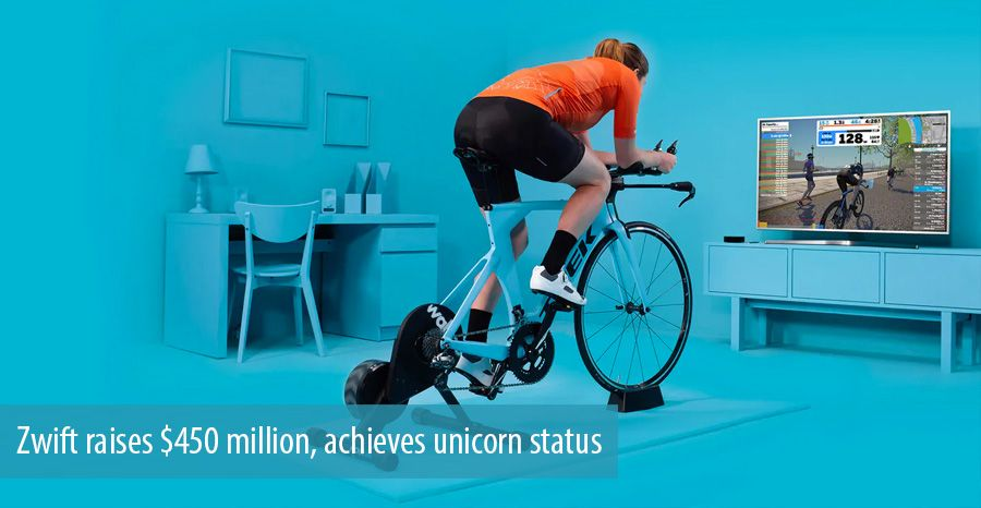 Zwift raises $450 million, achieves unicorn status