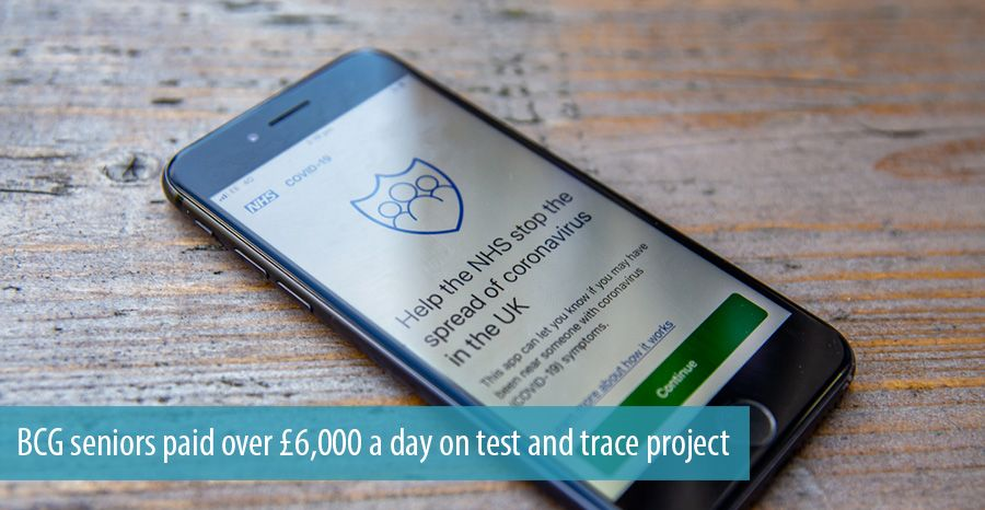 BCG seniors paid over £6,000 a day on test and trace project