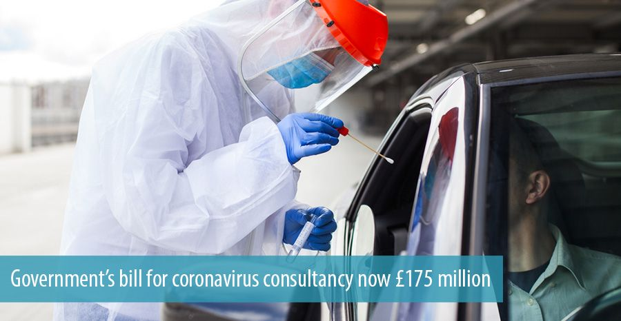 Government's bill for coronavirus consultancy now £175 million