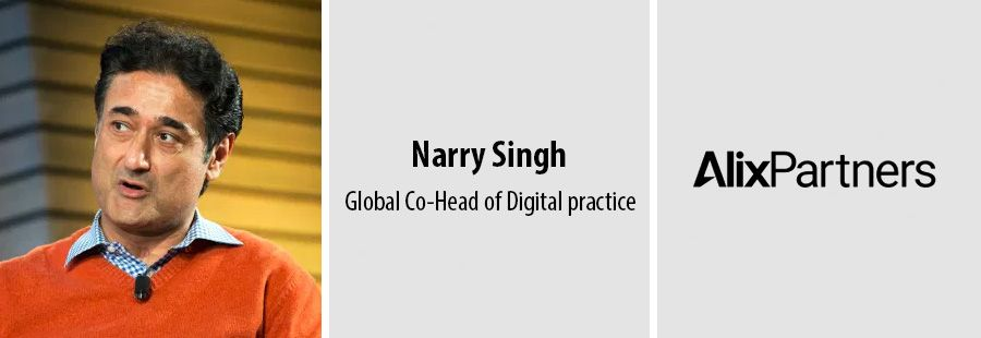 Narry Singh joins AlixPartners as Global Co-Head of Digital practice