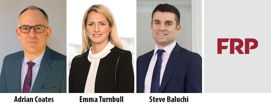 FRP appoints three new Directors in UK and Scotland