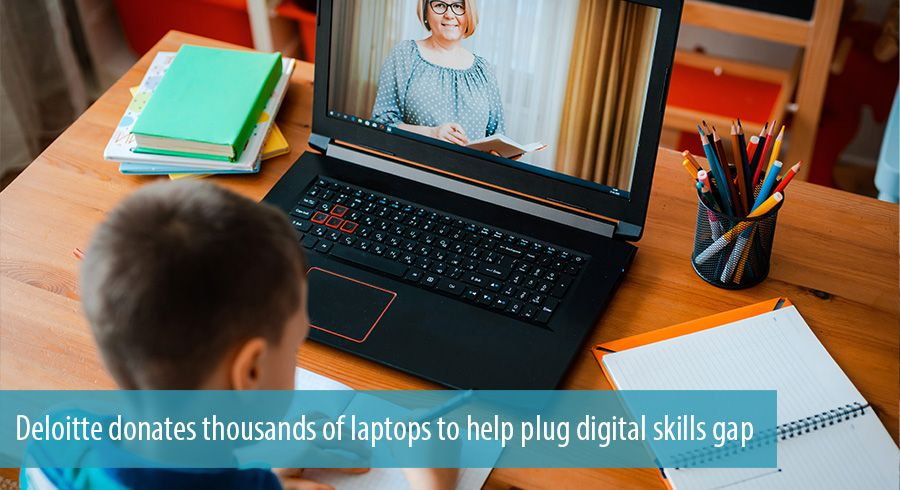 Deloitte donates thousands of laptops to help plug digital skills gap