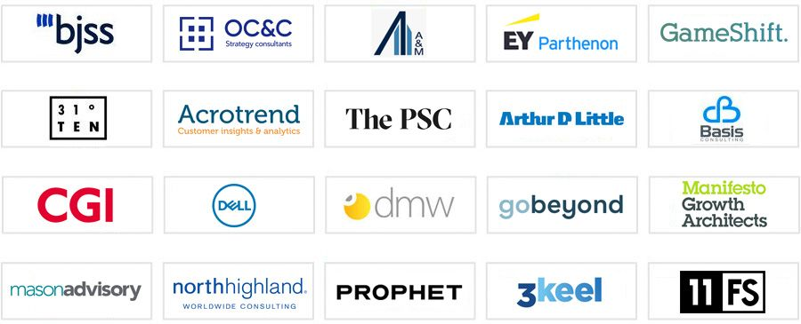 The top 41 - 60 consulting firms in the UK according to FT