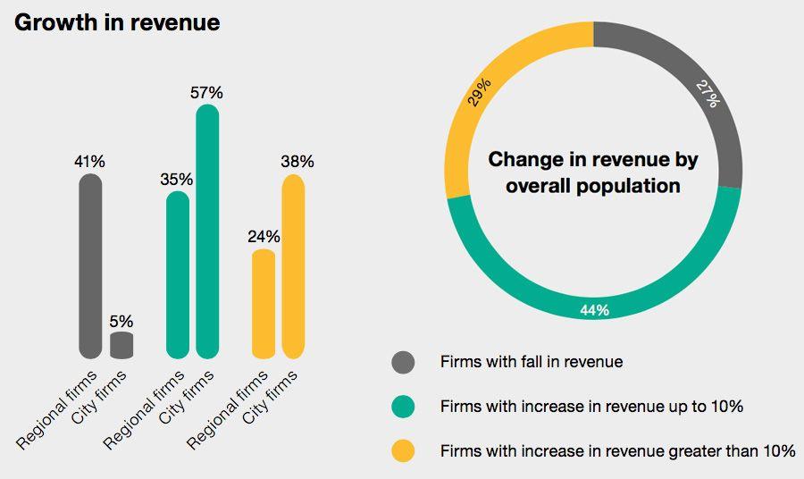 Revenue - a very polarised year