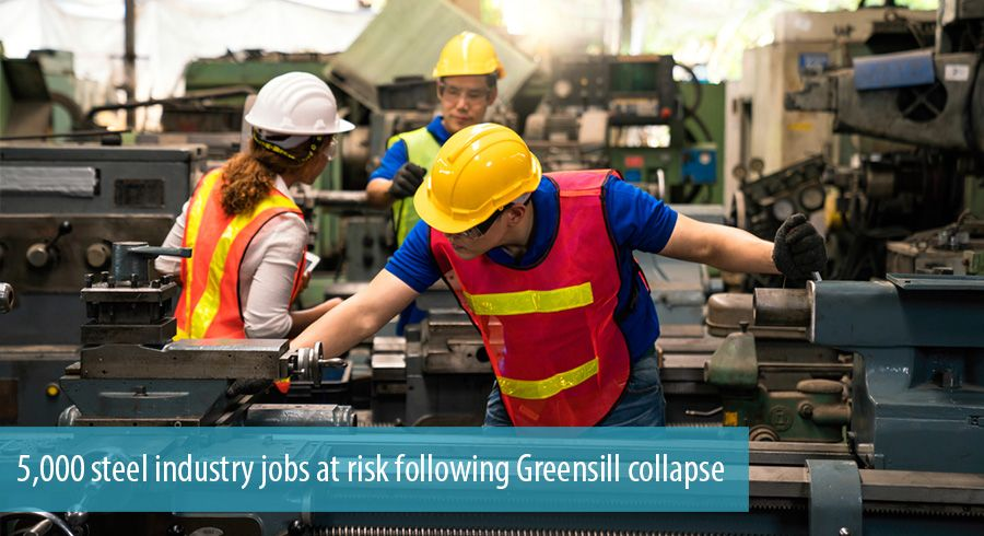 5,000 steel industry jobs at risk following Greensill collapse