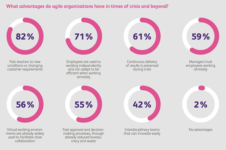 What advantages do agile organizations have in times of crisis and beyond