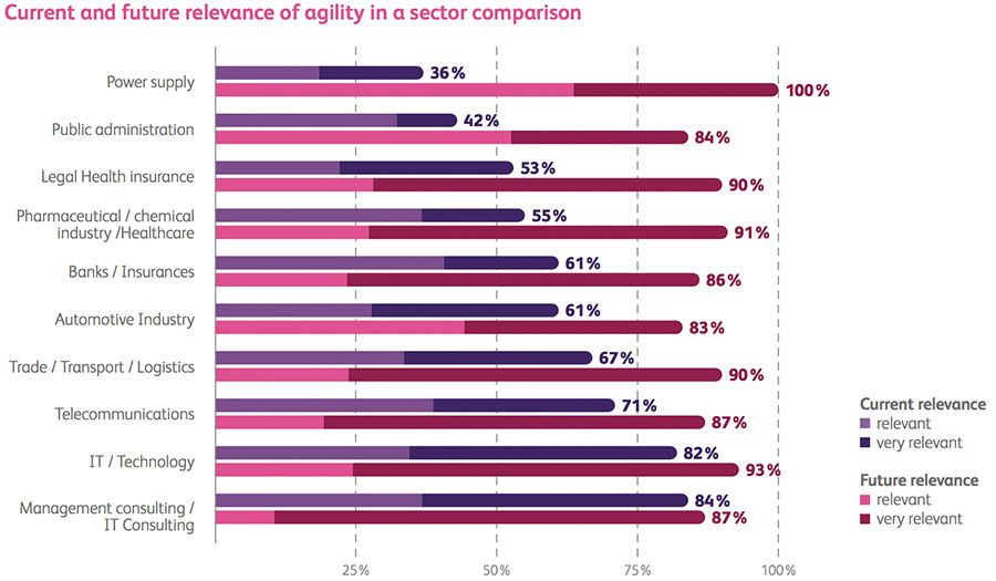 Current and future relevance of agility in a sector comparison