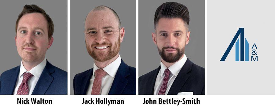 Nick Walton, Jack Hollyman and John Bettley-Smith - Alvarez & Marsal