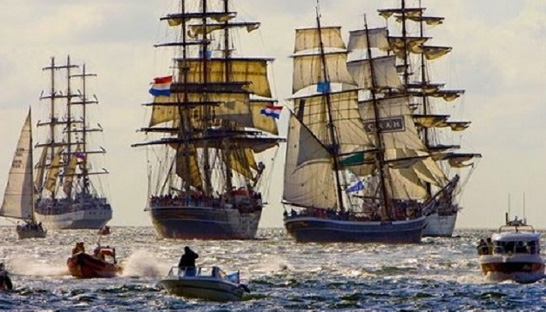 Nautical event Sail Amsterdam 2015 the biggest ever